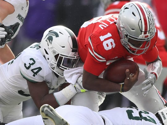 Nov. 11: Michigan State linebacker Antjuan Simmons