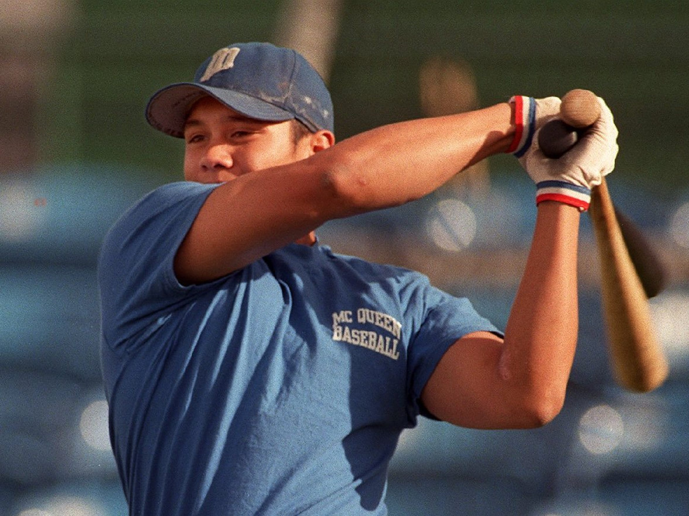 McQueen's Chris Aguila tied the national prep single-season