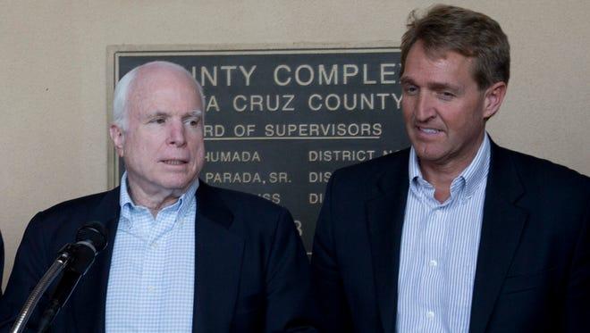 Sen. John McCain and Sen. Jeff Flake