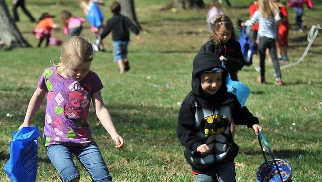 An Easter Egg Hunt is set for 11 a.m. to 2 p.m. Saturday at the Lakeside/Wardville Walking Trail on Prince Street in Pineville.