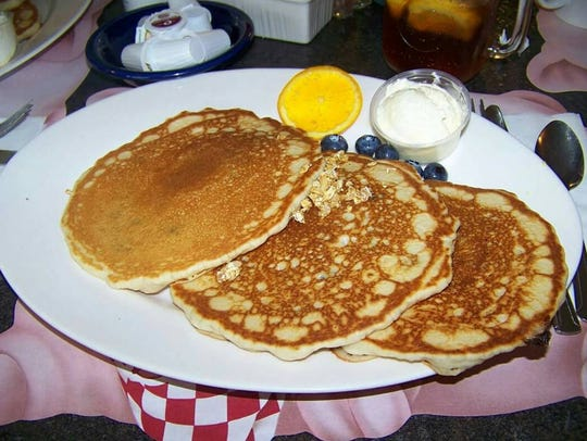 A platter of pancakes at Uncle Will's Pancake House