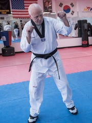 Mike Wiest is 83 years old and still practicing the sport of Tae Kwon Do.