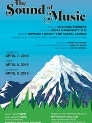 "A poster for the Marshfield High School production ""The Sound of Music."""