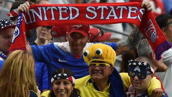 Copa America fans in Glendale, Ariz., in June 2016.