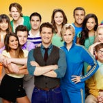 GLEE: The cast in the Season Five of GLEE airing Thursdays, (9:00-10:00 PM ET/PT) on FOX. Pictured top L-R: Jenna Ushkowitz, Chord Overstreet, Darren Criss, Melissa Benoist, Jacob Artist, Naya Rivera and Alex Newell. Bottom L-R: Blake Jenner, Lea Michele, Chris Colfer, Matthew Morrison, Jane Lynch, Becca Tobin and Kevin McHale. ©2013 Fox Broadcasting Co. Cr: Brian Bowen Smith/FOX