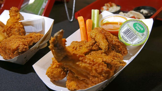 Chicken wings are among the new items that will be offered during Arizona Cardinals games  at the University of Phoenix Stadium this season.