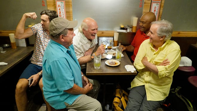 Jeff Dye, William Shatner, Terry Bradshaw, George Foreman and Henry Winkler in NBC's 'Better Late Than Never.'