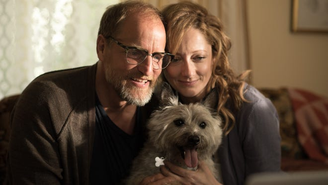 "Woody Harrelson as Wilson and Judy Greer as Shelly in the film ""Wilson."""