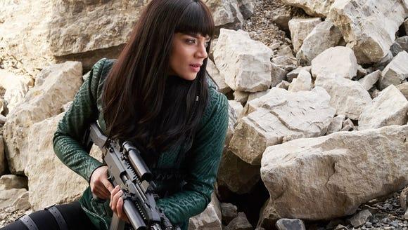 "Hannah John-Kamen as Dutch on ""Killjoys."""