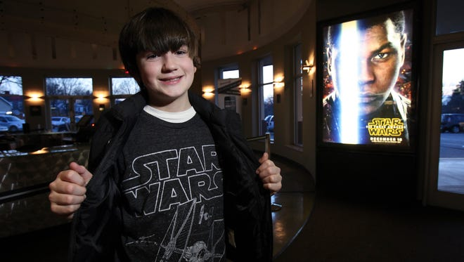 Casper Heck, 12, is one of Louisville's biggest Star Wars fans.  He was at the Baxter Avenue Theater.