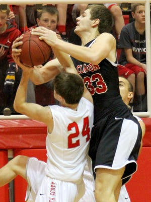 Clinton's Brady Ernst, right, became Steve Prohm's first Iowa State recruit on Thursday.