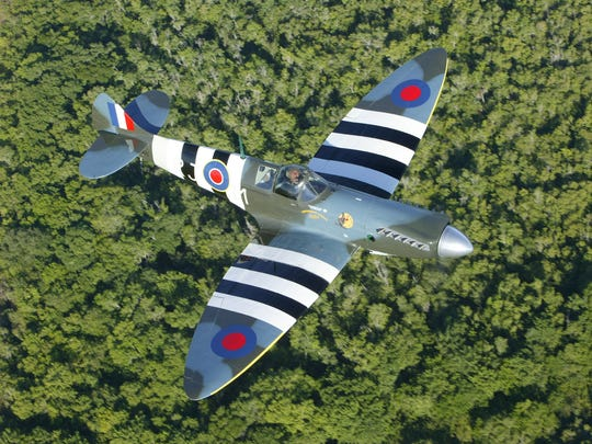 A Supermarine Spitfire, a plane the RAF used extensively in World War II.