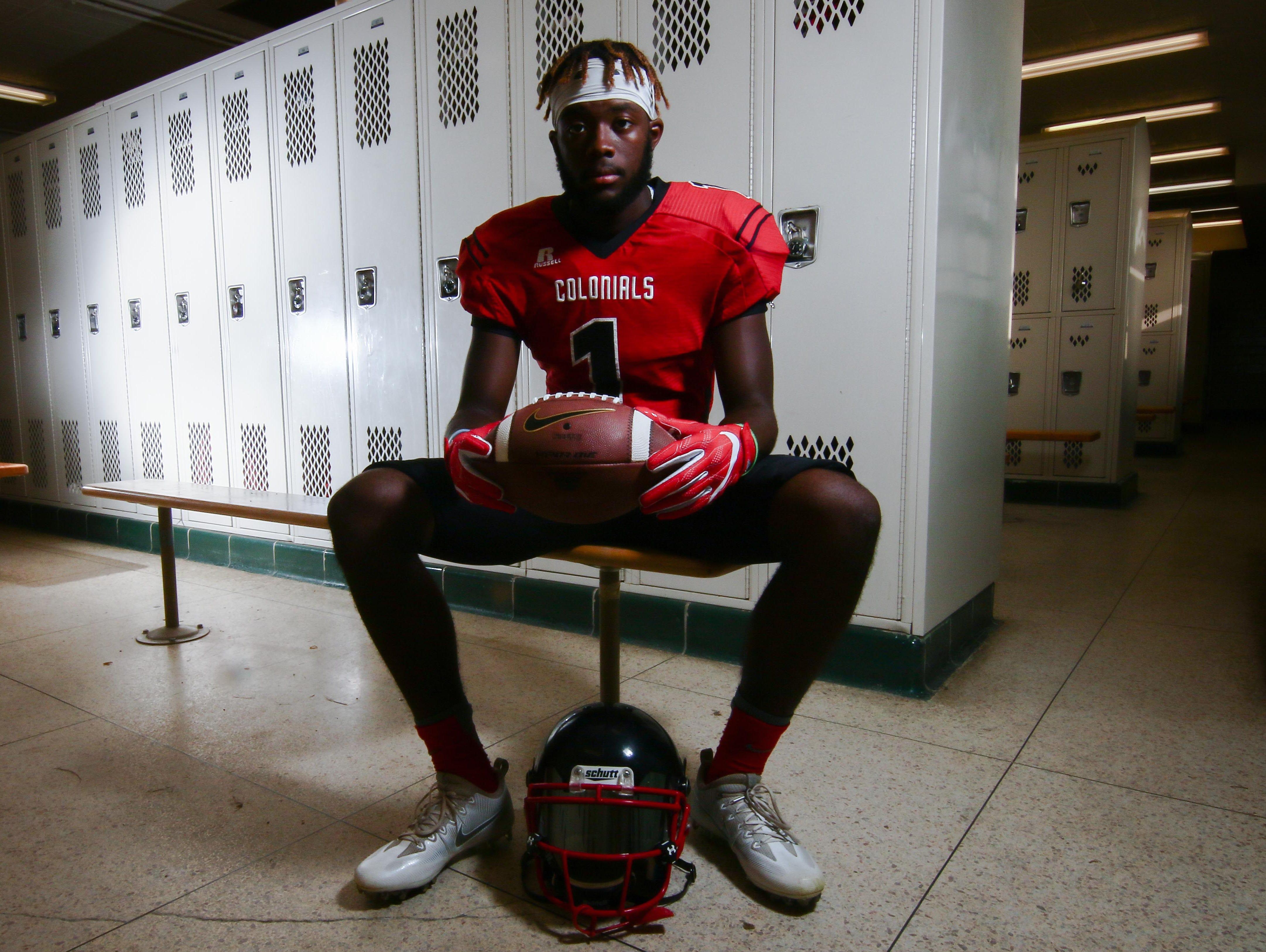 William Penn quarterback Zach Burton (1) pose for a photo during for a preseason feature shoot Thursday, August. 25, 2016, at Willian Penn High School in New Castle.