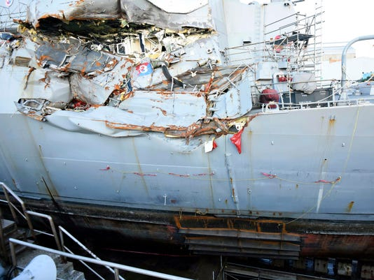 AP NAVY COLLISIONS CHARGES I FILE JPN