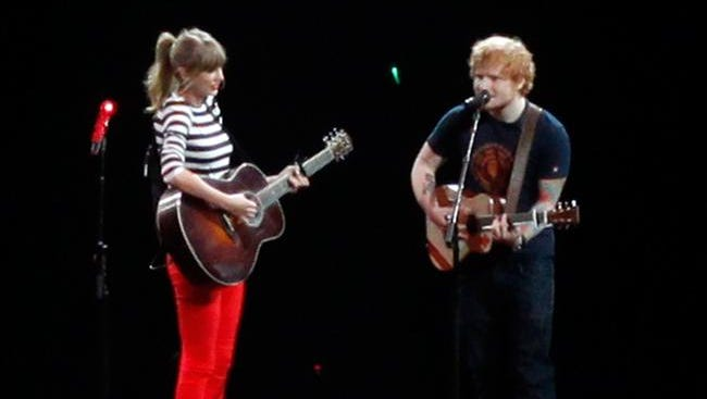 Taylor and Ed on stage