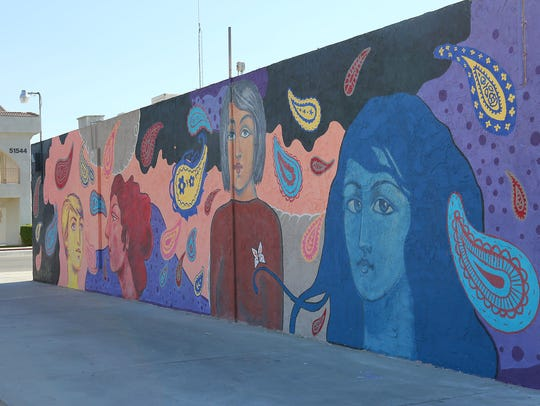 The mural created by Sofia Enriquez in Coachella.