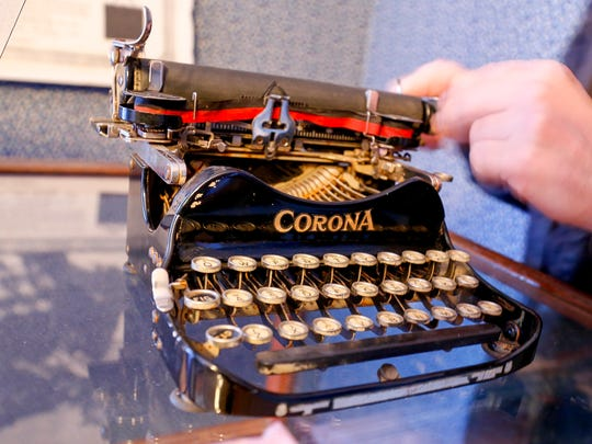 A Corona 3 typewriter from the Groton Historic Society's Smith Corona collection.