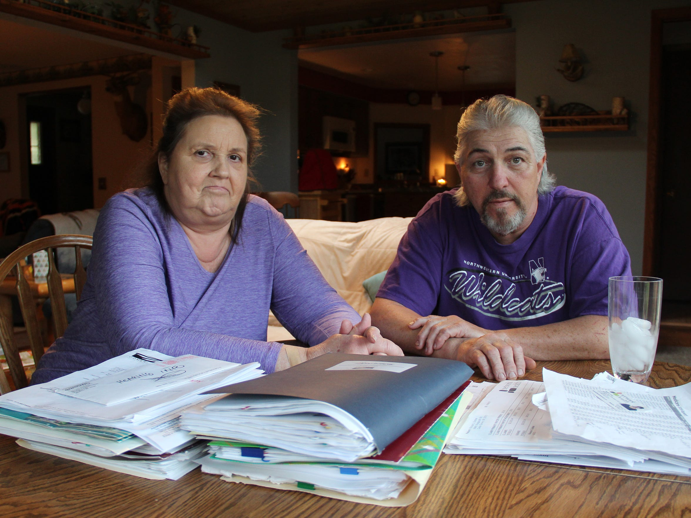 Richard Decker worked for more than 35 years for Kohler Co. before a brain injury sustained at work in 2010 forced him to stop working. Decker, seen here with his wife, Cathy, has problems with short-term memory and severe pain. Kohler has refused to provide him with long-term support under worker's compensation for the injury, and a state commission sided with the company.