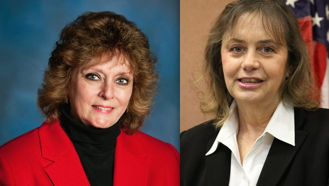 Livingston County District Judge Carol Sue Reader, left, will challenge District Judge L. Suzanne Geddis, right, for the latter's seat in the November election.