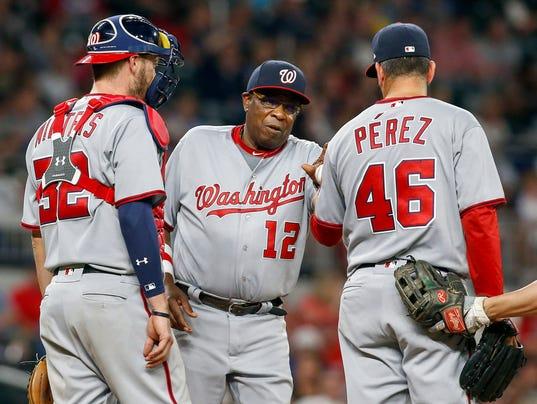 USP MLB: WASHINGTON NATIONALS AT ATLANTA BRAVES S BBN ATL WAS USA GA