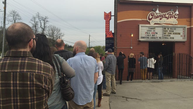 Wednesday's line at the Orange Peel was dwarfed by the line to purchase tickets for the third surprise comedy show.