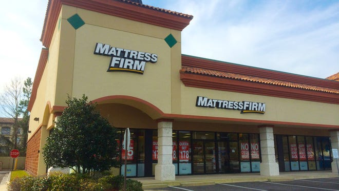 Mattress Firm at Jacksonville Beach, Florida, USA.