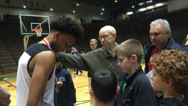 New Albany's Romeo Langford signs autographs Friday night in New Castle.