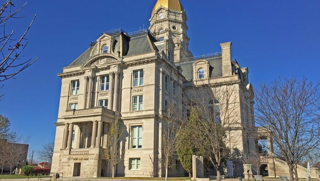 Southside of the Vigo Co. courthouse Terre Haute, Ind. Oct. 20, 2016.