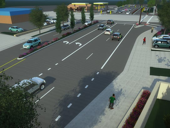 A rendering of improvements to the intersection of