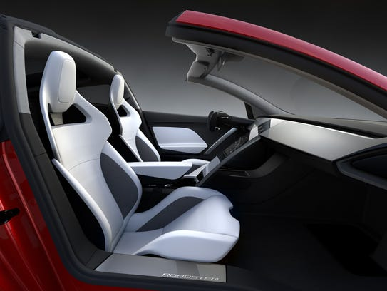 The Tesla Roadster will feature a targa style roof
