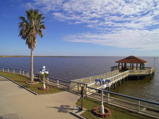 There is a huge pier for fishing and entertaining.