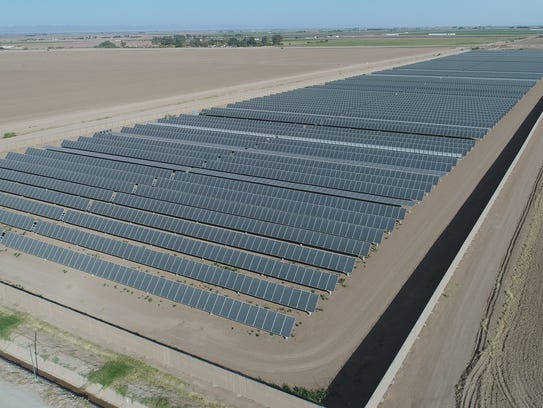 The three-megawatt solar project adjacent to Imperial