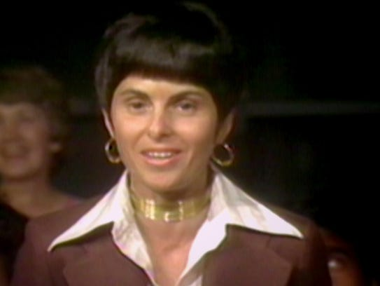 A young Gloria Allred appears on 'Dinah!' in the mid-1970s.