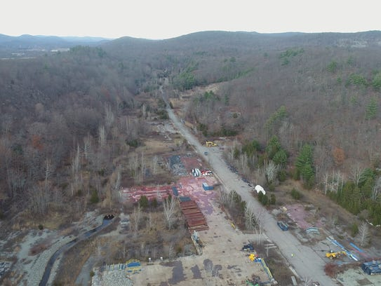 Aerial view of the former DuPont munitions site in