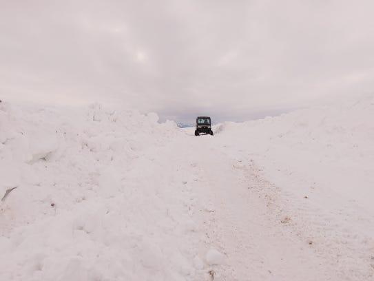"""The road to the Joe Kipp ranch north of Browning. """""""