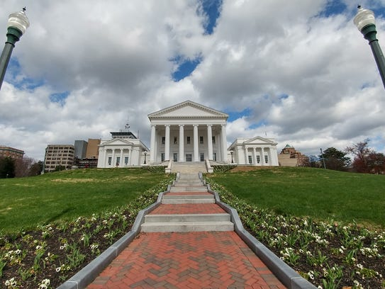 The Virginia State Capitol Building on Capitol Square.