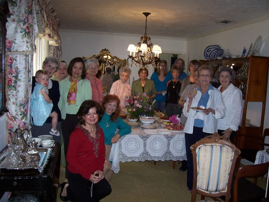 Ms. Lillian Cox with the Daffodil Garden Circle