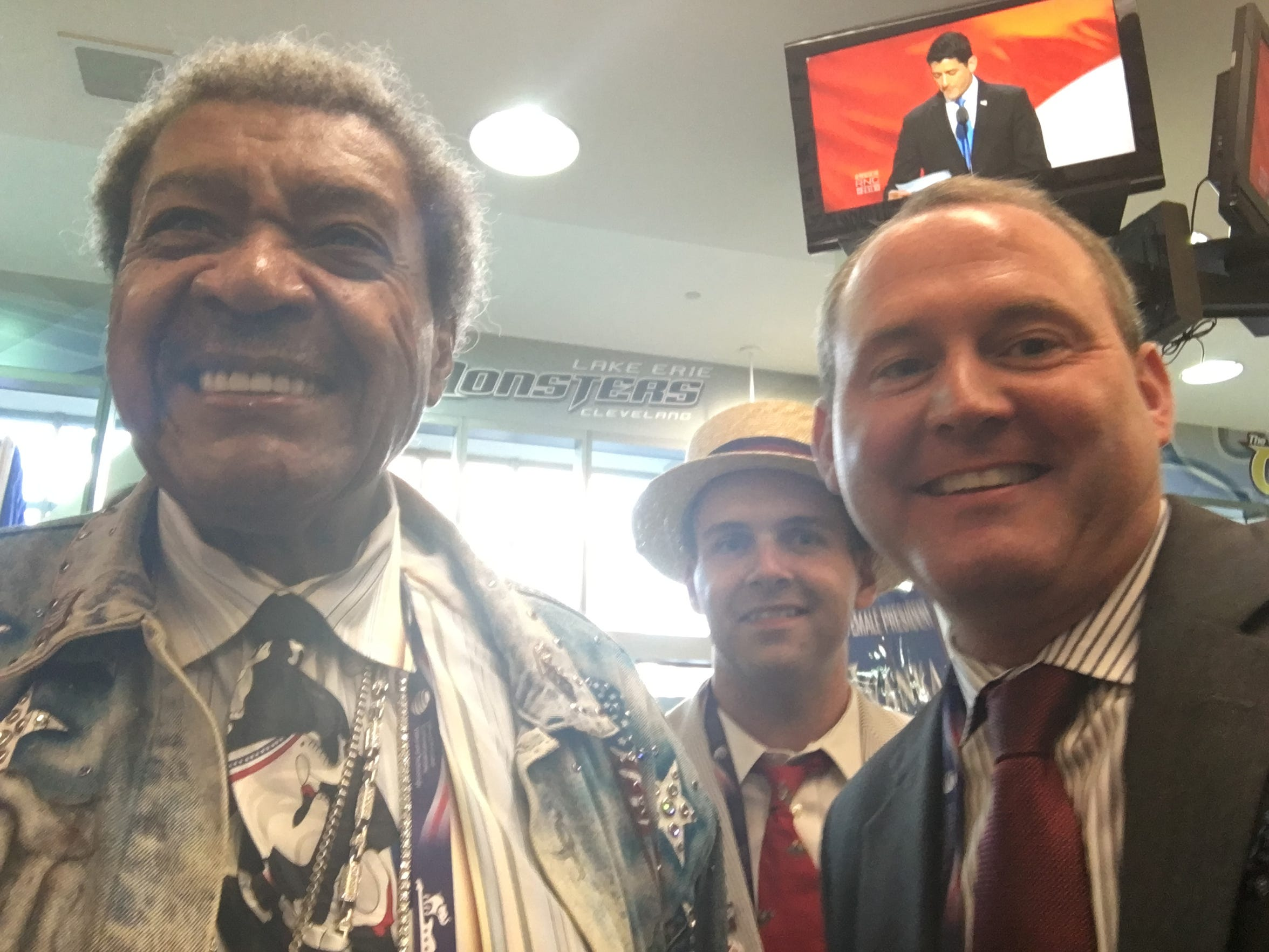 Posing with Don King