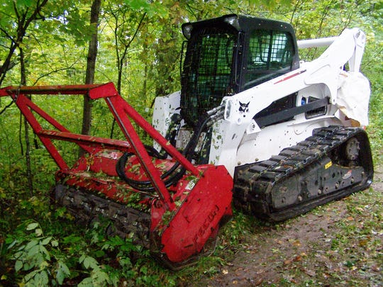 This forest mower can quickly remove undesired unstory
