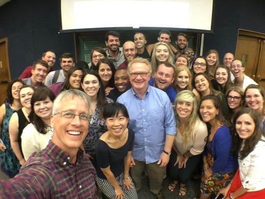 Kevin Fenton, Hugh Floyd from Furman University, and the 2017 summer masters choral music education students