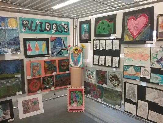 Art by students on display at the NM state fair in Albuquerque.