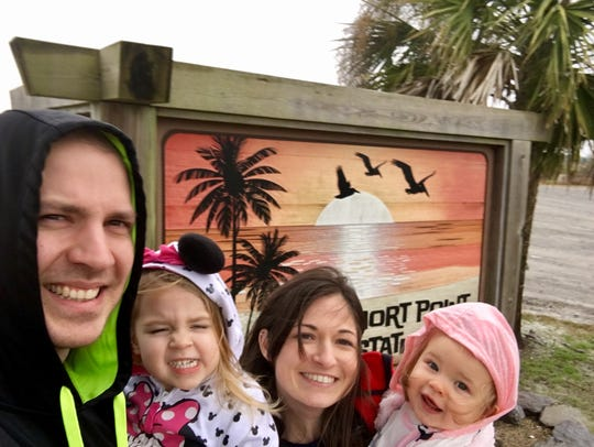 Travel and tourism reporter Leigh Guidry and her family