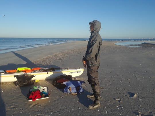 Max prepares to re-embark at Wiggins Pass. Naples father
