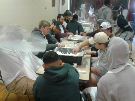 The Midwestern State Mustangs participated in several community service projects this spring.