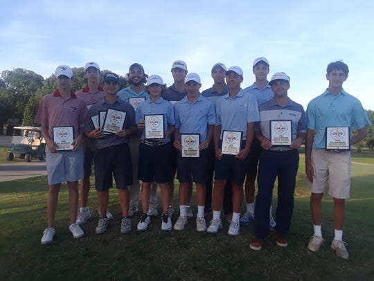 Members of the 2018 All-Acadiana golf team include