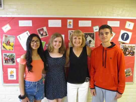 Left to right: Vanessa Samonte, Michaela Ryan, Lauren
