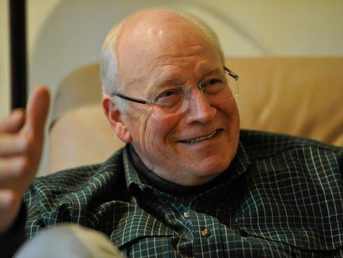 Former vice-president Dick Cheney at his home outside of Jackson Hole, Wyo.