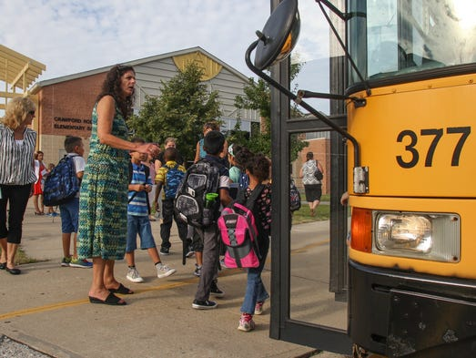 Jackson,  NJ       First day of school at Jackson's Crawford-Rodriguez Elementary.  090314  Tom Spader/Asbury Park Press
