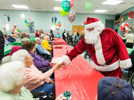 Veterans meet Santa as part of an outrach program by