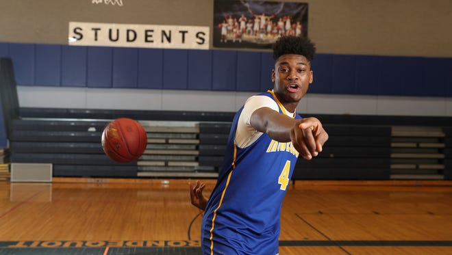 Irondequoit's Gerald Drumgoole is the AGR Boys Basketball Player of the Year.